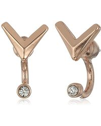 Sam Edelman - V Stone Front/back Earrings - Lyst