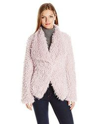 Betsey Johnson - Curly Lamb Faux Fur - Lyst