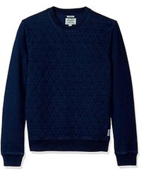 Lucky Brand - Quilted Crew Neck Sweater - Lyst