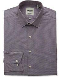 Ben Sherman - Skinny Fit Unsolid Texture Spread Collar Dress Shirt - Lyst