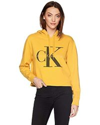 Calvin Klein - Pop Color Hoodie With Monogram Logo - Lyst