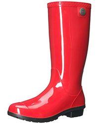 71f6736e98f UGG Shaye Bandana Rubber Rain Boots in Blue - Lyst