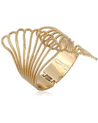 """Guess - """"basic"""" Clam Cuff Bracelet - Lyst"""