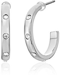 "Kate Spade - ""infinity And Beyond"" Small Hoop Earrings - Lyst"