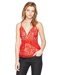 French Connection - Delos Lucky Layer Lace V-neck Top - Lyst