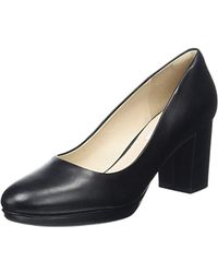 Clarks - Kelda Hope Closed Toe Heels Black - Lyst