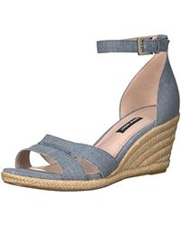 5074cba536b Lyst - Nine West Jorjapeach Espadrille Wedge Sandal in Black