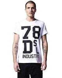 DIESEL , T-Shirt Homme - Blanc