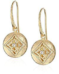 Gurhan - Topkapi Gold Single Round With Diamond Center Hook Drop Earrings - Lyst