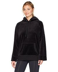 Calvin Klein - Performance Logo Velour Hooded Tunic - Lyst