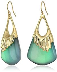 Alexis Bittar - Crystal Studded Pleated Wire Drop Earrings - Lyst