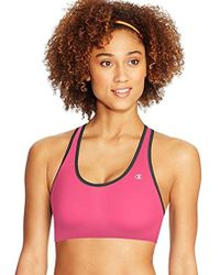 22bf90fbf7402 Lyst - Champion Absolute Sports Bra With Smoothtec Band in Pink