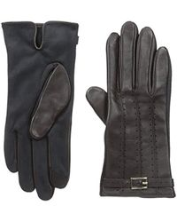 Adrienne Vittadini - Leather And Faux Suede Touchscreen Gloves - Lyst