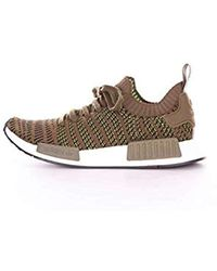 b1835730130 adidas Nmd R1 Stlt Primeknit Men s Shoes (trainers) In White in ...