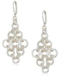 Nine West - Silver-tone Chandelier Drop Earrings, Size 0 - Lyst