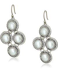 Lucky Brand - S Small Pearl Chandelier Earrings - Lyst