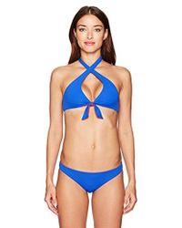 Emporio Armani - Ea7 Solid Reversible Triangle Bikini Set - Lyst