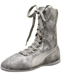673a24dafd30 PUMA Asana Leather Women s Shoes (high-top Trainers) In White in ...