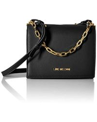 Love Moschino Borsa Smooth Pu Cross-body Bag - Black