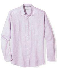 Amazon Essentials - Regular-fit Long-sleeve Linen Shirt - Lyst