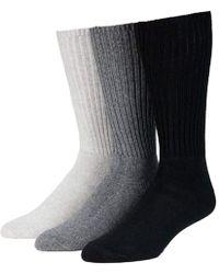Calvin Klein - 3 Pack Cotton Rich Casual Rib Sock - Lyst