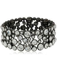 Guess - Basic Crystal Stone Stretch Bracelet - Lyst