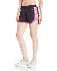 Skechers - Active Crayon Stripe Run Short, Pink Glow, Small - Lyst