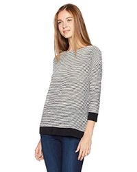 Jones New York - Drop Shoulder Easy Body W/knit Rib Trim - Lyst