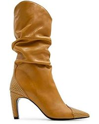 ALDO Castagna 118giusy10ocra Beige Leather Boots