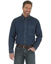 Wrangler - Rugged Wear Basic One-pocket Denim Shirt - Lyst