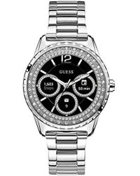 Guess - Stainless Steel Android Wear Touch Screen Smart Watch - Lyst