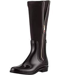 Tommy Hilfiger - Material Mix Long Rain Boot High - Lyst