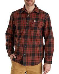 Carhartt - Big & Tall Hubbard Plaid Flannel Shirt - Lyst