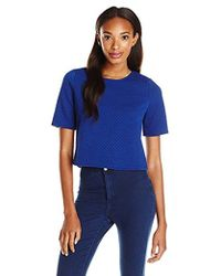 Kensie - Quilted Jersey Top - Lyst