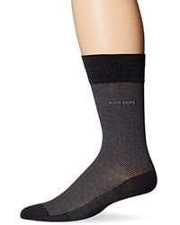 BOSS - Dave Herringbone Crew Sock - Lyst