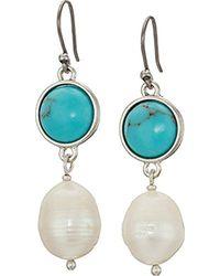 Lucky Brand - S Set Stone Drop Earrings - Lyst