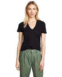 Monrow - Tissue V-neck Shirt - Lyst