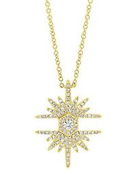 Ron Hami - Diamond Starburst Love Bolt Pendant Necklace (1/3 Cttw, G-h Color, Si1 Clarity) - Lyst
