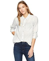 Calvin Klein - Frosted Flannel Button Down Shirt Linear Plaid - Lyst