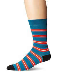 DIESEL - Skm-ray, Turquoise Stripe, Sock Size:10-13/shoe Size: 6-12 - Lyst