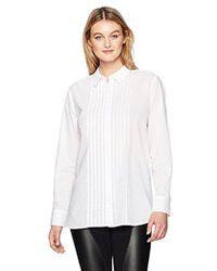 NYDJ - Tuxedo Tunic Shirt - Lyst