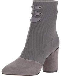 9b091d29aac Lyst - Aerosoles Nametag (black Fabric) High Heels in Gray