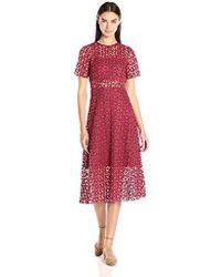 Erin Fetherston - Erin Nora Short Sleeve Lace Illusion Dress - Lyst