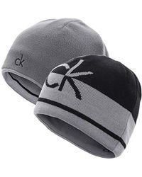 Calvin Klein 2017 S Ck Reversible Knit Beanie Hat