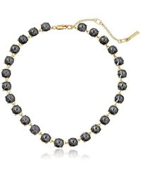 Kenneth Cole - Bond And Burgundy Stone Collar Necklace - Lyst
