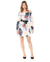 Guess - Off The Shoulder Cayenne Dress - Lyst