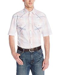 Wrangler - 20x Short-sleeve Snap Woven Shirt - Lyst