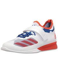 Lyst Adidas Crazy Power Cross trainer zapatos en blanco para los hombres