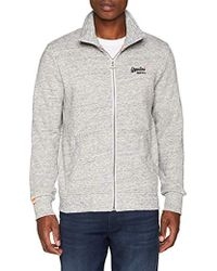 Superdry - Orange Label Track Top, suéter para Hombre, Gris (Pacific Grey Grit A3y) Small - Lyst