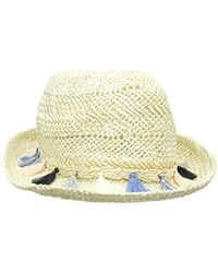 80a4f22baec Asos Straw Crochet Short Brim Floppy Hat With Size Adjuster in Brown ...